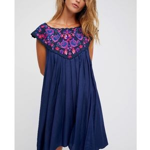 FREE PEOPLE Party Dress Intricate Draped Mini Gown